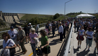 Grand opening ceremony of Folsom Dam Bridge